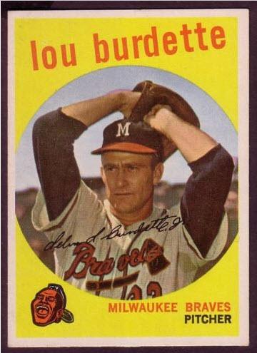Burdette 1959 Topps