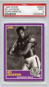 Bo Jackson 1989 Score Supplemental football