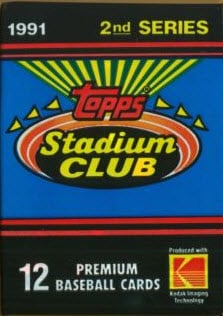 Topps 1991 Stadium Club pack