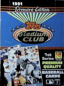 Stadium Club box 1991 Topps
