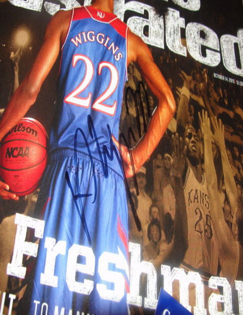 Andrew Wiggins autographed Sports Illustrated