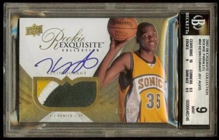 Exquisite Rookie 2007 Kevin Durant auto