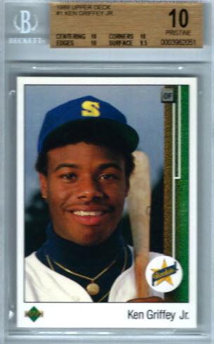 BGS 10 1989 Ken Griffey Jr. Upper Deck rookie card