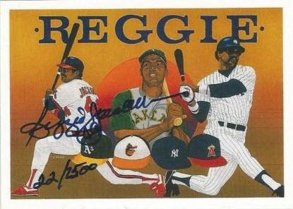 Reggie Jackson signed 1990 Upper Deck Heroes card Find the Reggi