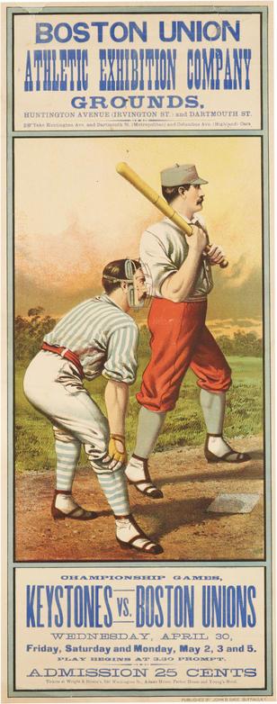 1884 Baseball Poster