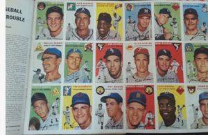 baseball card insert Sports Illustrated 1954