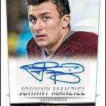 Johnny Manziel autograph 2014 Score football card