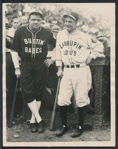 Barnstorming photo Lou Gehrig Babe Ruth 1927 1928