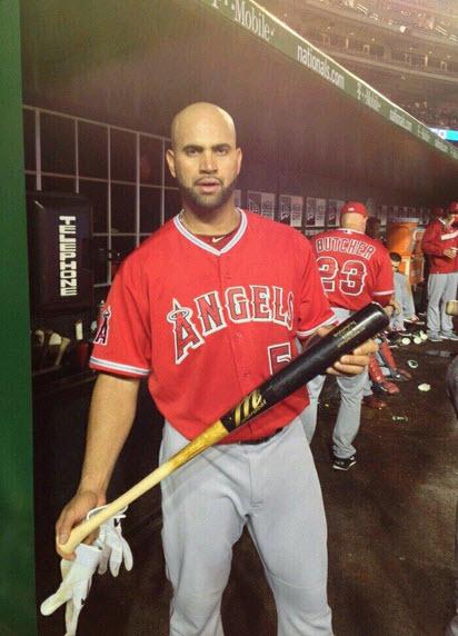 Pujols 500th home run bat