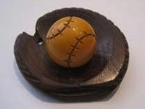 Antique Bakelite baseball pin