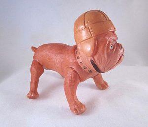 Celluloid football bulldog