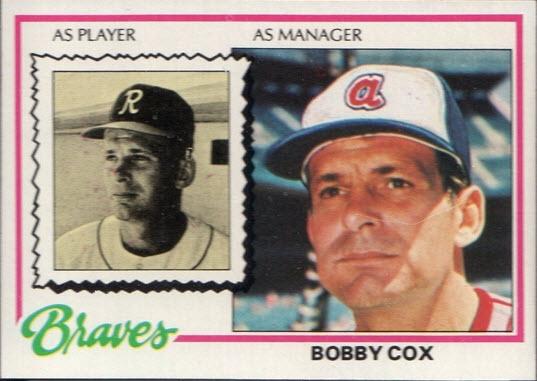 Bobby Cox 1978 topps