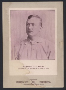 Cy Young cabinet Sporting Life