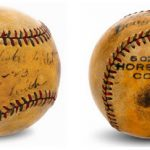 Autographed Babe Ruth Yankee Stadium ball 1923