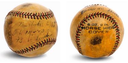Autographed Babe Ruth Yankee Stadium ball 1923