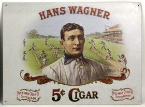 The 1990s Han Wagner Cigar tin sign