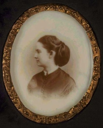 1860s opalotype on pale white glass