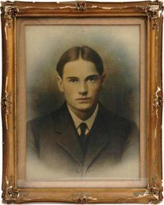 Crayon portrait photograph of baseball star Kid Nichols from his estate