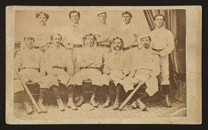 CDV of the 1869 Cincinnati Red Stockings baseball team