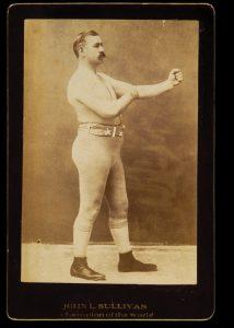 1890s cabinet card of heavyweight boxing champ John L. Sullivan