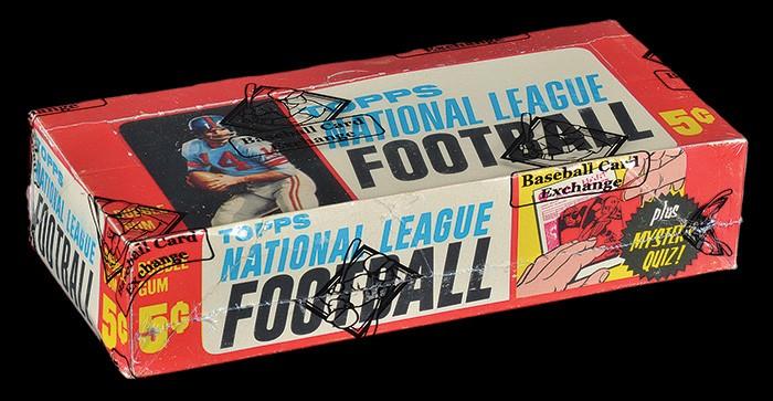 Football wax back 1963 Topps