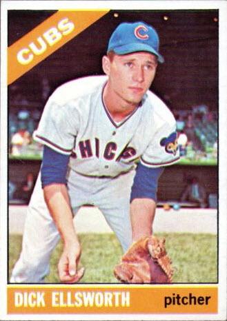 Dick Ellsworth photo actually Ken Hubbs 1966 Topps