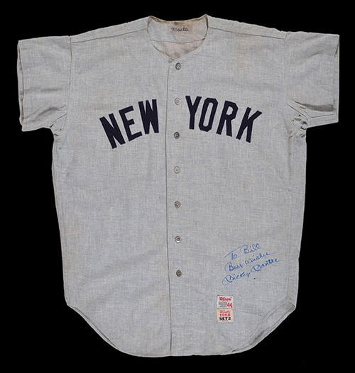 Mickey Mantle game worn jersey 1968