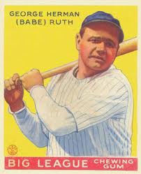 Original or Reprint 1933 Goudey Babe Ruth? A black light can tell you.