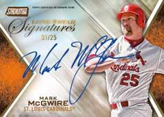 Mark McGwire Lone Star Signatures 2014 Stadium Club
