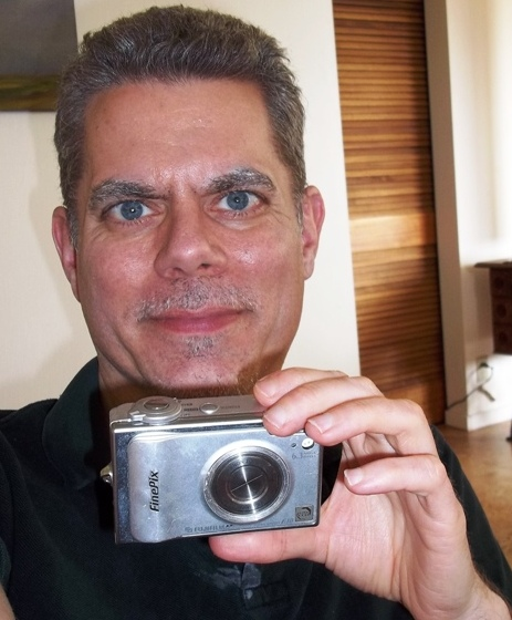 The author holding an infrared camera.