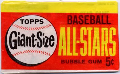 Unopened 1964 Topps Giants pack