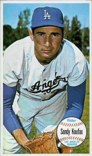 1964 Topps Giants Sandy Koufax PSA 9