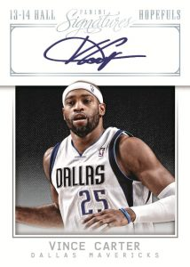 Vince Carter Hall Hopefuls 2013-14 Signatures Basketball