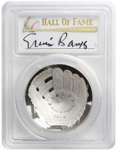 Ernie Banks coin authentic autograph