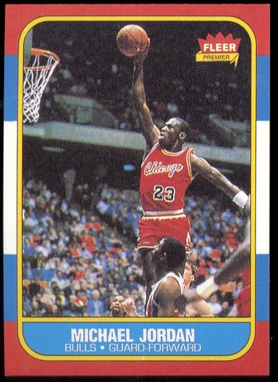 Michael Jordan rookie reprint