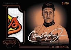 Cal Ripken auto patch 2014 Topps Dynasty