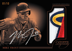 Mike Trout 2014 Topps Dynasty patch
