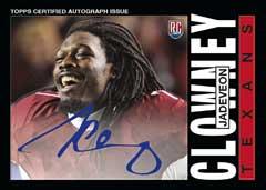 2014 Topps Chrome Jadaveon Clowney autograph 1985 design