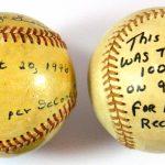 Bob Feller Nolan Ryan fastest pitched baseballs