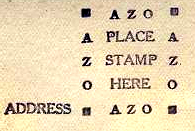 The AZO with squares in the corners of this stampbox dates the postcard to 1925-1940s