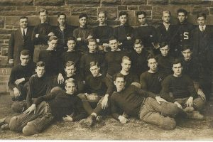 1914 real photo postcard of a football team