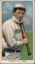 Wee Willie Keeler T206 with bat