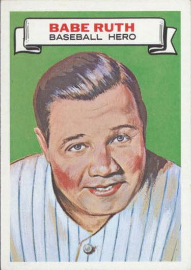 1967 Topps Who Am I Babe Ruth