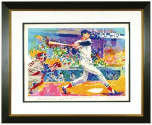 Leroy Neiman screen print of Ted Williams signed by both