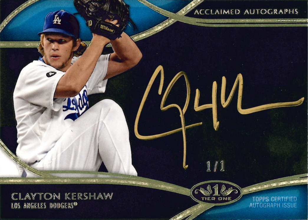 2014 Topps Tier One Clayton Kershaw autograph