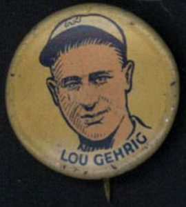 Lou Gehrig Cracker Jack pin