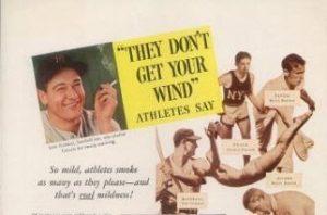 Gehrig cigarette ad 1935