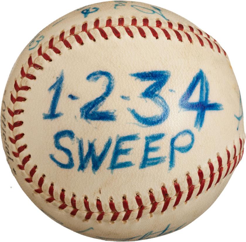 1963 World Series game used baseball