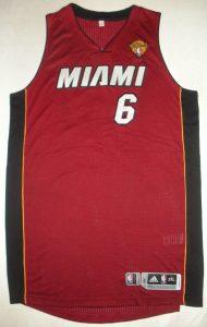 Game worn LeBron James NBA Finals cramp jersey 2014