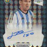 Lionel Messi signed 2014 Panini Prizm black 1/1